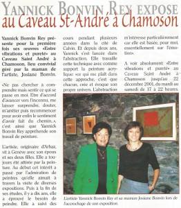 Exposition au Caveau Saint-André à Chamoson 2